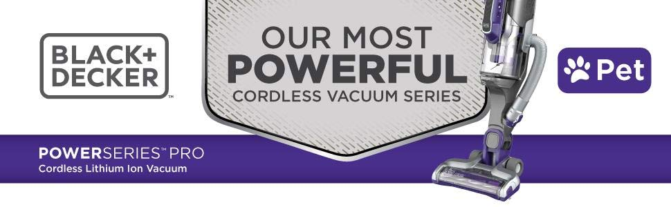 Black Decker PowerSeries Pet Pro - Best Cordless Vacuum for Pet Hair