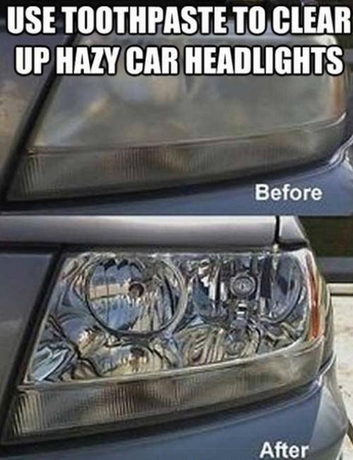 Cleaning Hacks Everyone Should Know - Clear Hazy Headlights